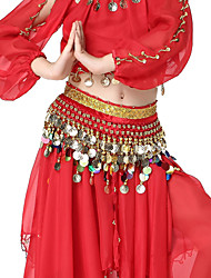 Dancewear Velvet with 128 Coins Belly Dance Belt For Children More Colors