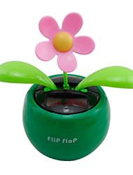 Solar Powered Flip Flap Flower Plant-Green