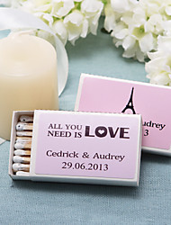 Wedding Décor Personalized Matchboxes - All You Need Is Love (Set of 12)