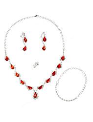 Women's Alloy/Rhinestone Jewelry Set Crystal