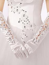 Elbow Length Fingertips Glove Satin Bridal Gloves/Party/ Evening Gloves