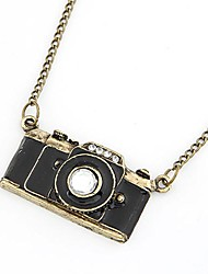 Vintage Alloy Zircon Camera Pattern Necklace (Assorted Colors)