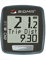 SIGMA Wasserdicht Multifunktionale Wired Digital LCD Fahrradcomputer mit 7 Sprachen (Black) MN81697