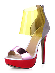 Gorgeous Suede / Leatherette Stiletto Heel Sandals Party / Evening Shoes