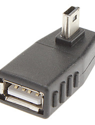 90 Degree to Left 5P to USB/A M/F Adapter