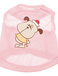 Lovely Dog Pattern Terylene Vest für Hunde (XS-L)