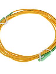 Câble de fibre optique, SCAPC-SCAPC-UPC, mode unique - 3 mètres