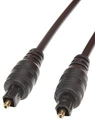 Toslink-toslink Digital Fiber-Optic Lines(Black,OD4mm,1.5M)