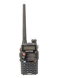 The BAOFENG walkie-talkie UV-5RA(Channel Capacity 128, Channel Spacing 2.5/5/6.25/10/12.5/20/25KHz, Operated Voltage 7.4V)