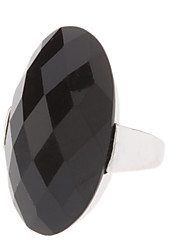Cutting Angle Oval Ring