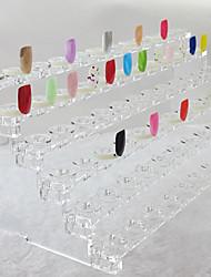 72 Dicas de unhas Dicas Art Mostrando suporte ABS plástico transparente (31x12x11cm)