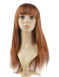 "Lace Front 100% Human Hair 18"" Silky Straight Hair Wigs"