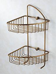 2-tier huilé panier savon en bronze