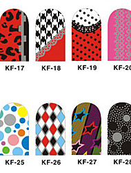 12PCS 3D Full-couvrir Nail Art Stickers Cartoon Spot Les Séries (n ° 3, couleurs assorties)