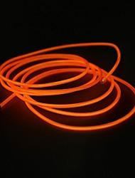 décoration de mariage décoration 2.3m fil el led orange avec chargeur de cigarette