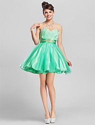 Cocktail Party / Homecoming / Prom / Wedding Party / Sweet 16 Dress - Short Plus Size / Petite A-line / Ball Gown Strapless / Sweetheart