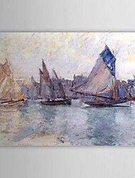 Famous Oil Painting Boats in the Port of Le Havre by Claude Monet