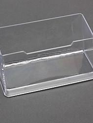 Transparent Plastic Holder Tarjeta de presentación (color al azar)