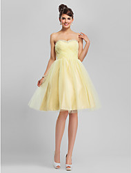 A-Line Ball Gown Strapless Sweetheart Knee Length Tulle Cocktail Party Homecoming Dress with Beading by TS Couture®