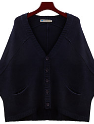 Alan Solid Color Bat Sleeve Cardigan