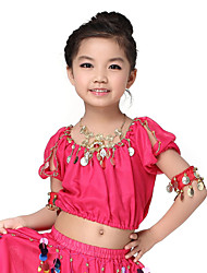 Dancewear Chiffon with Coins Belly Dance Tops For Children More Colors