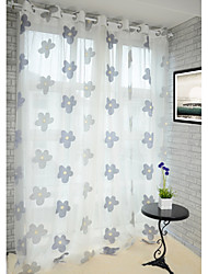 AnTi™ (Two Panels) Floral Country Jacquard Sheer Curtain