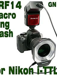 Emoblitz DRF14N Autofoco TTL Digital Macro Ring Flash para Nikon i-TTL D5000 D3100