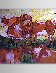 Famous Oil Painting Cows after Jorsaens by Van Gogh