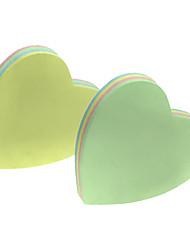Peach Heart Shaped notes auto-sticker (2pcs couleurs aléatoires)