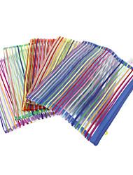 Arco-íris Têxtil estilo com elevação corda Folders A5 (cor aleatória)