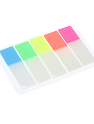 44x12mm 5 cores transparentes fluorescência Index Card Set (cor aleatória)