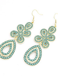 Clover de Waterdrop de boucles d'oreille pendantes (couleurs assorties)