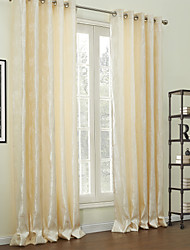 (Deux panneaux) jacquard énergie de polyester traditionnel floral économie rideau