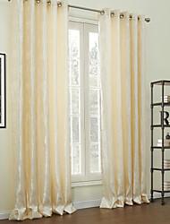 (Dois painéis) jacquard cortina de economia de energia de poliéster tradicional floral