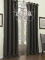 TWOPAGES® Two Panels  Embossed Branches Classic Blackout Curtain