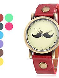 Femme Quartz Bande Moustaches Bleu / Rouge / Marron / Vert / Violet / Jaune / Rose Marque-