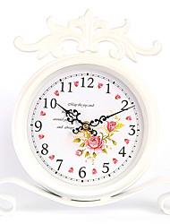 Country Rose metallo orologio da tavolo