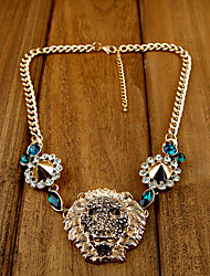 Mode luxueux Lion Head Pendant Rivet collier des femmes