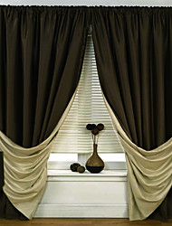 (Two Panels) Solid Energy Saving Classic Curtain