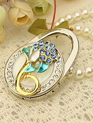 Blue Flower Bolso Favor Valet con diamantes de imitación