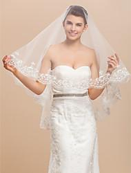 Moniste Tulle bout des doigts voile de mariée en dentelle Applique bord