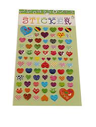 Cartoon Heart Series Stereo Bubble Sticker