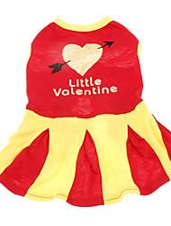 Pure Cotton Little Valentine Pattern Dresses for Dogs (XS-L)