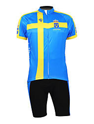 KOOPLUS® Cycling Jersey with Shorts Men's Half Sleeve Bike Breathable / Waterproof Zipper / Front Zipper / WearableJersey + Shorts /
