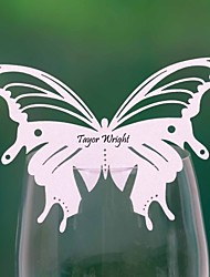 Place Cards and Holders Pretty Butterfly Shaped  Place Card For Glass (Set of 12)