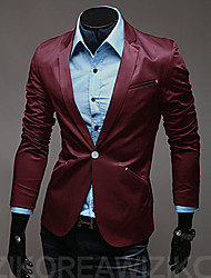 Men's Solid Color One Button Suit