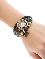 Dames Modieus horloge Armbandhorloge Kwarts Band Vlinder Bohémien Bedeltjes Zwart Rood Orange Bruin Groen Merk