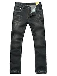 Recientemente causales Jeans larga recta de los hombres