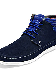JCB Men's Leisure Blue Leather Ankle Boots