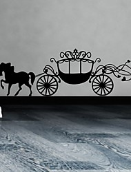 Princess Horse Carriage Wall Sticker